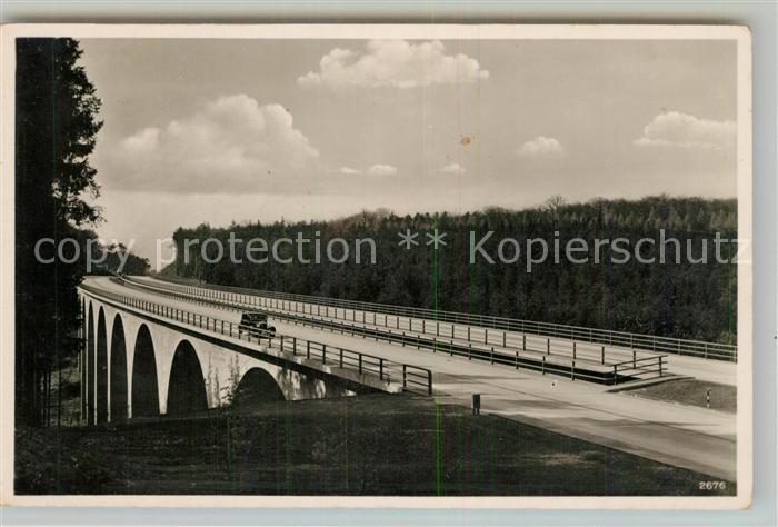 AK / Ansichtskarte Autobahn Reichsautobahn Schweinsdellbruecke Kaiserslautern Autobahn