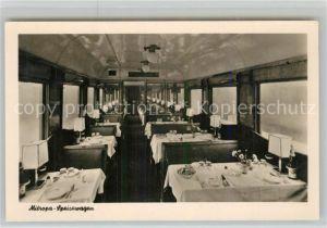 AK / Ansichtskarte Eisenbahn Mitropa Speisewagen  Eisenbahn