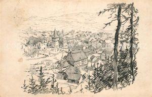 AK / Ansichtskarte Hronov od Jiraskova buku Zeichnung Hronov