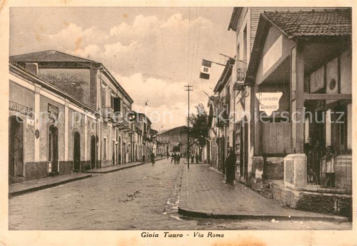 AK / Ansichtskarte Gioia_Tauro Via Roma Cartoleria Genovese