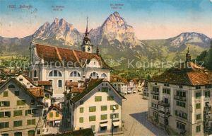 AK / Ansichtskarte Schwyz mit Gr und Kl Mythen Schwyz