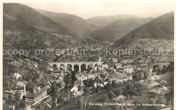 AK / Ansichtskarte Hornberg_Schwarzwald Panorama Blick ins Reichenbachtal Viadukt Hornberg Schwarzwald