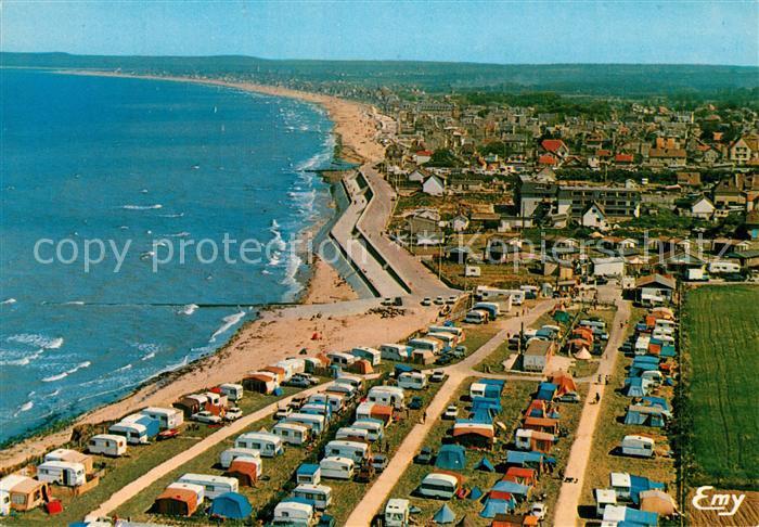 AK / Ansichtskarte Lion sur Mer Vue Aerienne Camping des Roches  Lion sur Mer