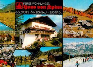 AK / Ansichtskarte Goldrain_Vinschgau Ferienwohnung Haus von Spinn Goldrain Vinschgau