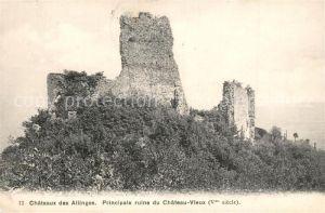 AK / Ansichtskarte Allinges Chateau Principale ruine du Chateau Vieux Allinges