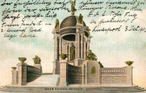 AK / Ansichtskarte Liverpool Queen Victoria Memorial Liverpool