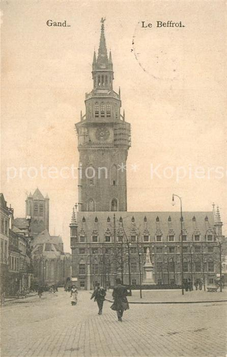 AK / Ansichtskarte Gand_Belgien Le Beffroi Glockenturm Gand Belgien
