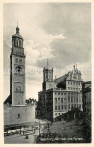AK / Ansichtskarte Augsburg Rathaus und Perlachturm Augsburg