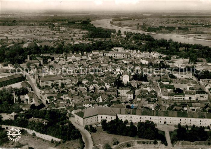 AK / Ansichtskarte Germersheim Fliegeraufnahme Germersheim