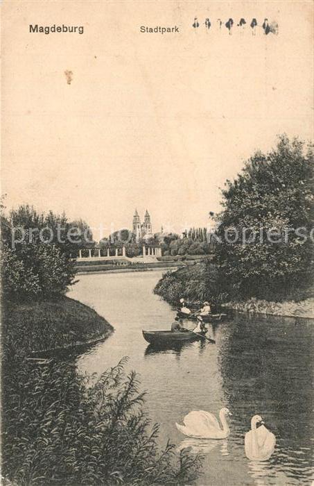 AK / Ansichtskarte Magdeburg Stadtpark Magdeburg