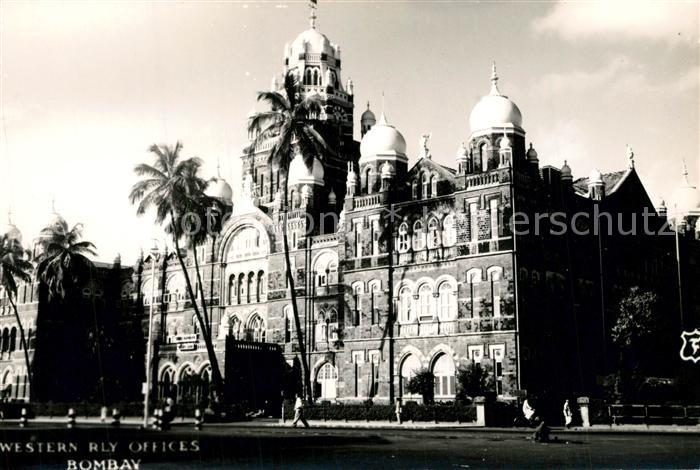 AK / Ansichtskarte Bombay_Mumbai Western RLY Offices Bombay Mumbai