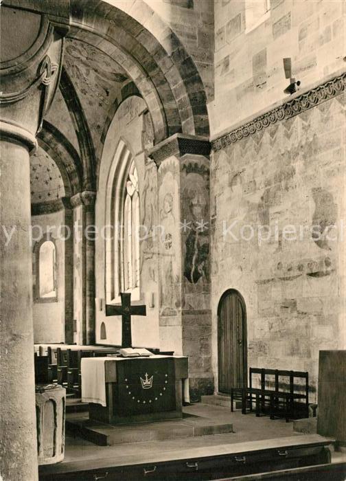 AK / Ansichtskarte Faurndau Kirche Wandmalereien im Altarraum und Chor Faurndau