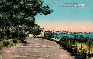 AK / Ansichtskarte Taranto Giardino Peripato Panorama della vecchia Citta Taranto