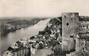 AK / Ansichtskarte Chinon_Indre_et_Loire Le Chateau La Tour du Moulin et la Vallee de la Vienne Chinon_Indre_et_Loire
