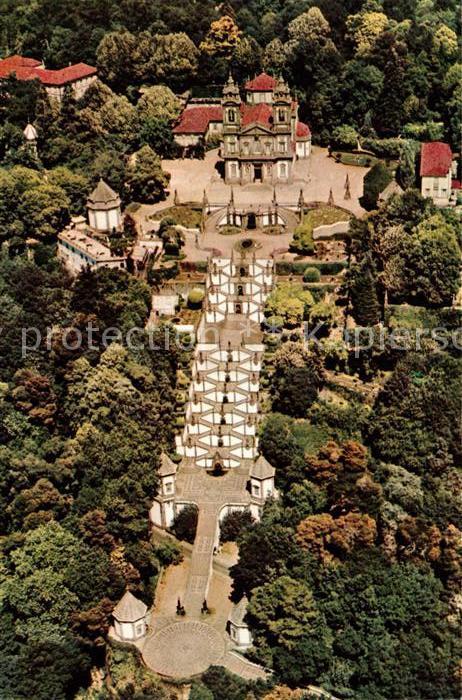 AK / Ansichtskarte Braga Fliegeraufnahme Bom Jesus  Braga