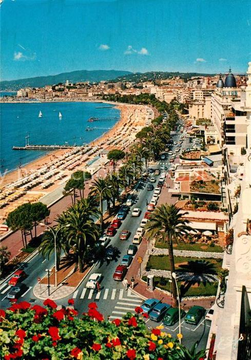 AK / Ansichtskarte Cannes_Alpes Maritimes La Croisette le Suquet Cannes Alpes Maritimes