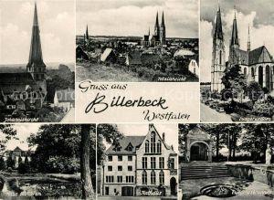 AK / Ansichtskarte Billerbeck_Westfalen Johanniskirche Ludgerusdom Ludgerusbrunnen Billerbeck_Westfalen