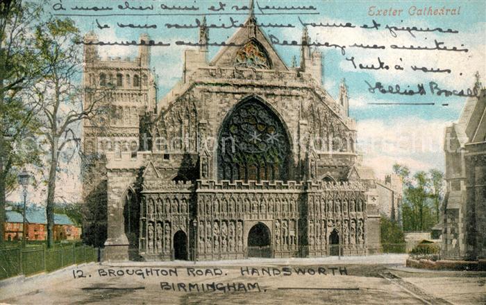 AK / Ansichtskarte Birmingham Exeter Cathedral Birmingham