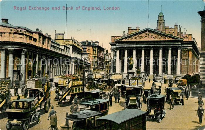 AK / Ansichtskarte London Royal Exchange and Bank of England London