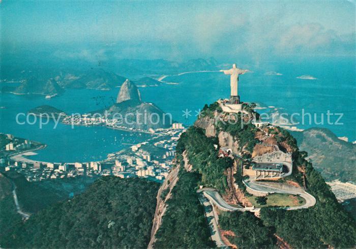 AK / Ansichtskarte Rio_de_Janeiro Christusfigur Panorama Rio_de_Janeiro