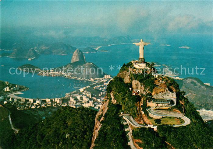 AK / Ansichtskarte Rio_de_Janeiro Panorama Christusfigur Rio_de_Janeiro