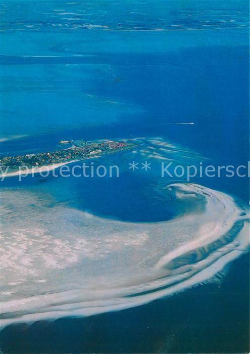 AK / Ansichtskarte Wittduen_Amrum Nordseeinsel Kniepsand Insel Foehr Fliegeraufnahme aus etwa 1400 m Hoehe Wittduen Amrum