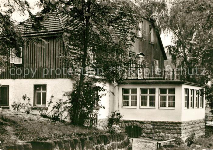 AK / Ansichtskarte Langenhennersdorf Haus Bergfrieden Betriebsferienheim Waggonbau Ammendorf Langenhennersdorf