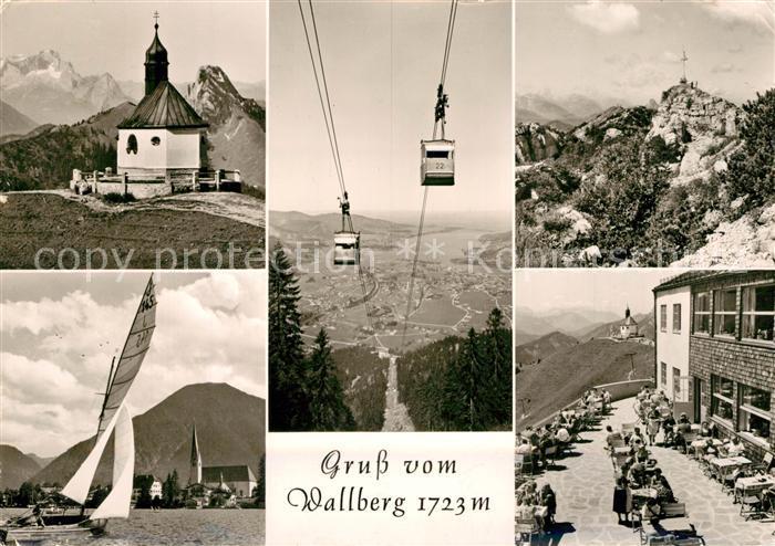 AK / Ansichtskarte Wallberg Seilbahn Segelboot Kapelle Wallberg