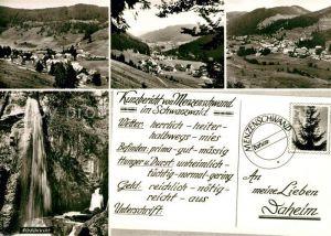 AK / Ansichtskarte Menzenschwand Albschlucht Menzenschwand