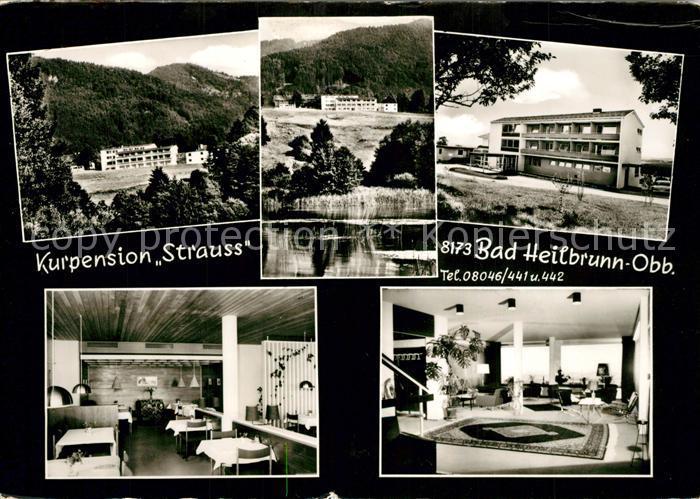 AK / Ansichtskarte Bad_Heilbrunn Kurpension Strauss Bad_Heilbrunn
