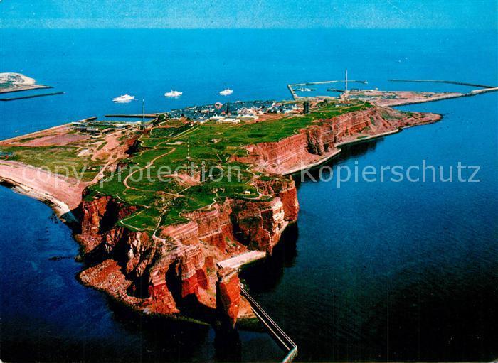 AK / Ansichtskarte Helgoland Nordseeheilbad Fliegeraufnahme Helgoland