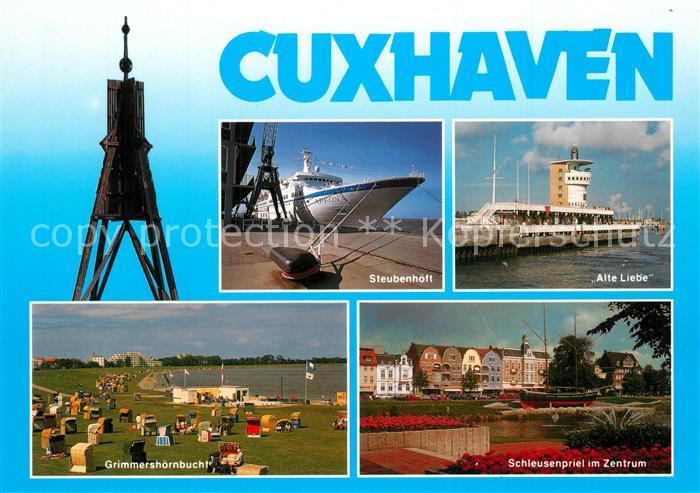 AK / Ansichtskarte Cuxhaven_Nordseebad Steubenhoeff Alte Liebe Grimmershoernbucht Schleusenpriel Kugelbake Cuxhaven_Nordseebad