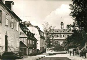 AK / Ansichtskarte Herrnhut Comeniusstrasse mit Kirchensaal Herrnhut