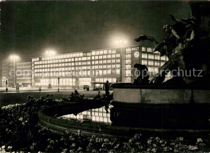 AK / Ansichtskarte Leipzig Postamt Karl Marx Platz Leipzig