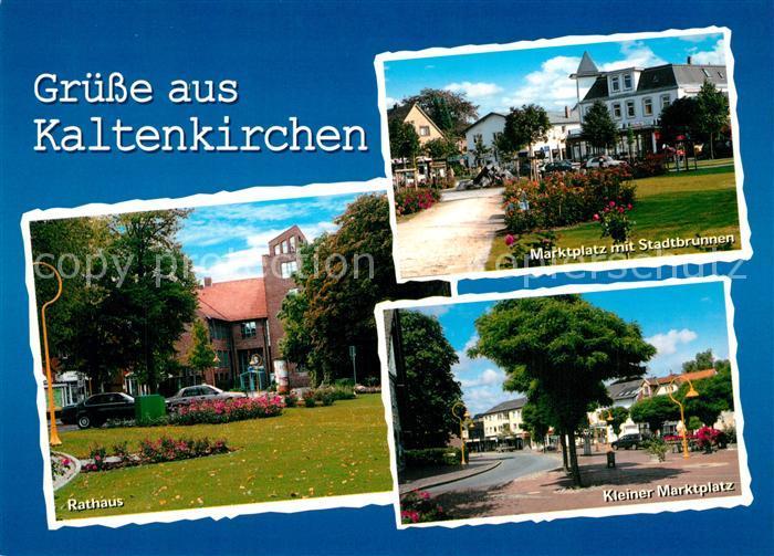 AK / Ansichtskarte Kaltenkirchen_Holstein Rathaus Marktplatz mit Stadtbrunnen Kleiner Marktplatz Kaltenkirchen_Holstein
