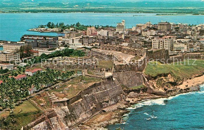 AK / Ansichtskarte San_Juan_Puerto_Rico Fliegeraufnahme Walls of Fort San Cristobal  San_Juan_Puerto_Rico