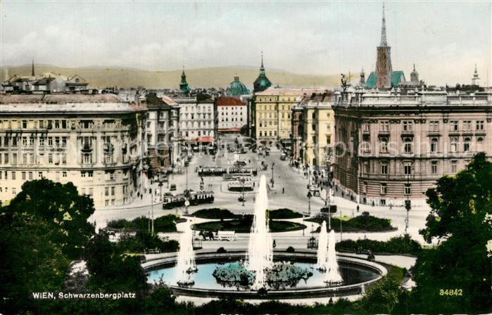 Ak Ansichtskarte Wien Schwarzenbergplatz Wien Nr Kp41452
