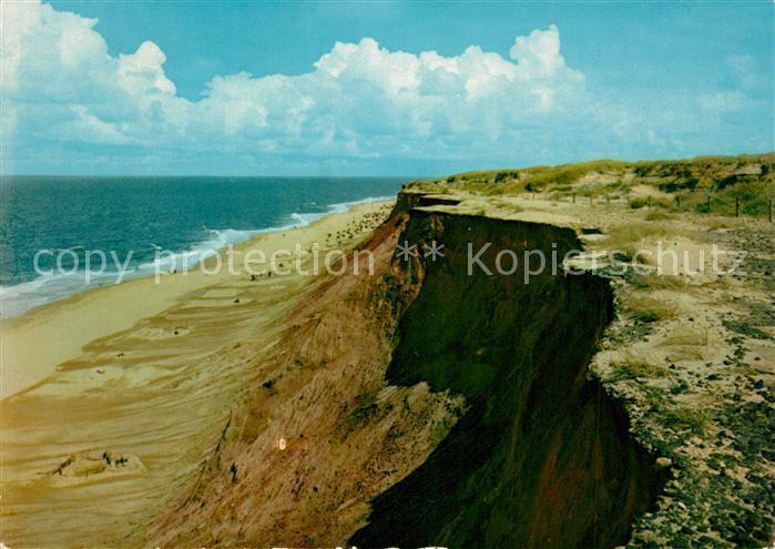 AK / Ansichtskarte Insel_Sylt Rotes Kliff Insel_Sylt