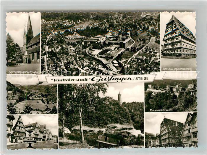 AK / Ansichtskarte Geislingen_Steige Alter Bau Heimatmuseum Hauptstrasse Fliegeraufnahme Geislingen_Steige