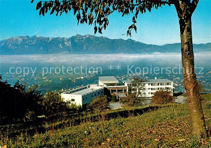 Vorarlberg Karte Berge.Ak Ansichtskarte Rankweil Vorarlberg Bildungshaus Batschuns Mit Schweizer Bergen Rankweil Vorarlberg