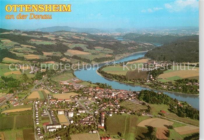 AK / Ansichtskarte Ottensheim Fliegeraufnahme Donaupartie Ottensheim