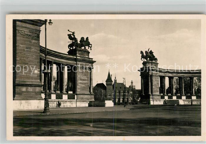 AK / Ansichtskarte Budapest Millenium Denkmal Budapest