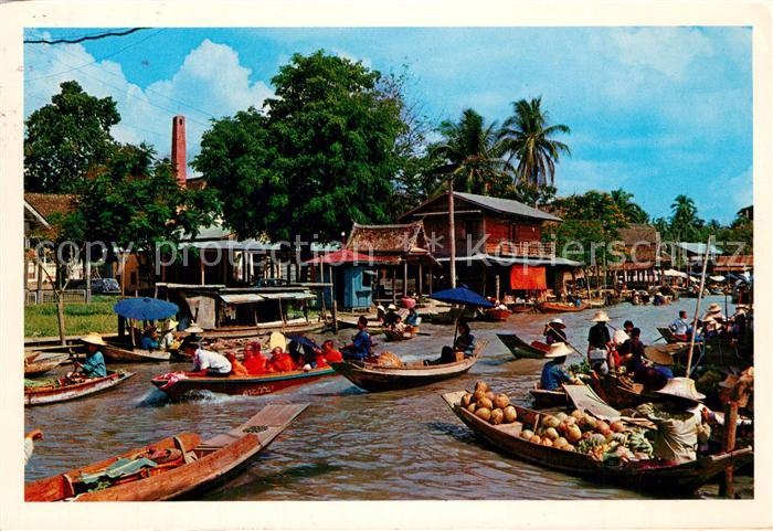 AK / Ansichtskarte Bangkok Floating Market Bangkok 0