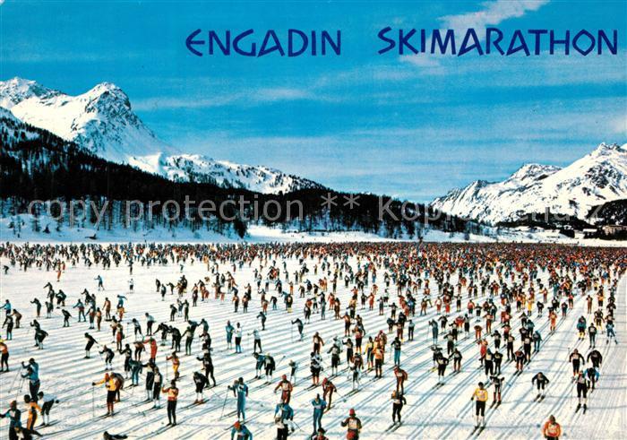 AK / Ansichtskarte Engadin_GR Skimarathon Maloja Zuoz 42 km Engadin_GR 0