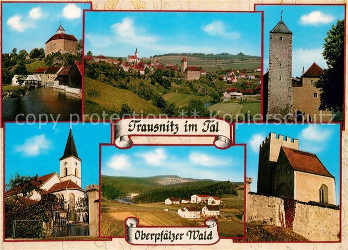AK / Ansichtskarte Trausnitz Stausee Badegelegenheit Kirche Schloss Trausnitz 0