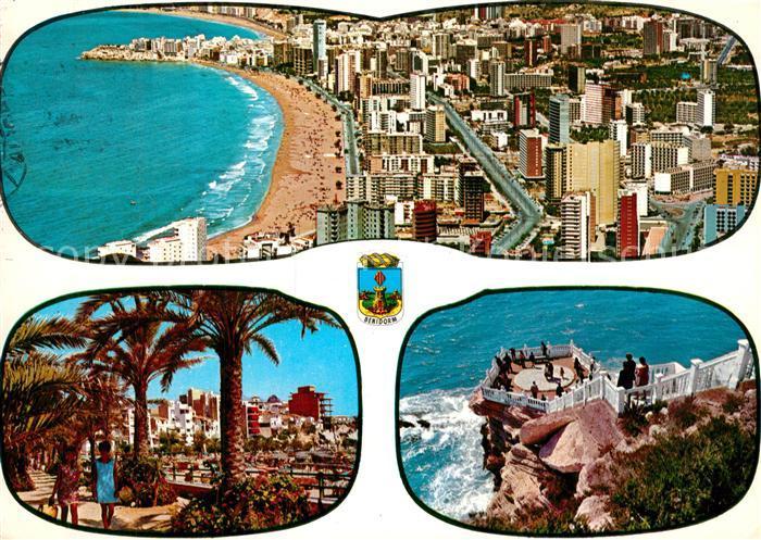AK / Ansichtskarte Benidorm Strandpartie Palmen Aussichtsplattform Benidorm 0
