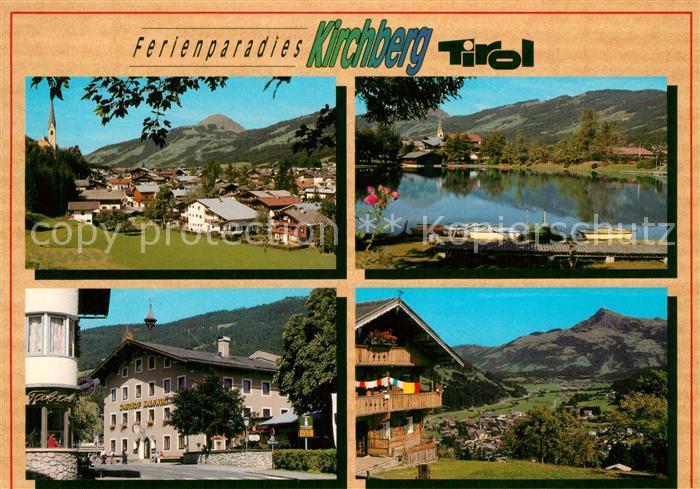 AK / Ansichtskarte Kirchberg_Tirol Ortsansicht Badesee Ortsmotive Kirchberg Tirol 0