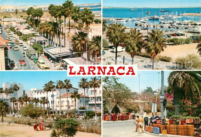 AK / Ansichtskarte Larnaca Strassenpartie Yachthafen Ortsmotive Larnaca 0