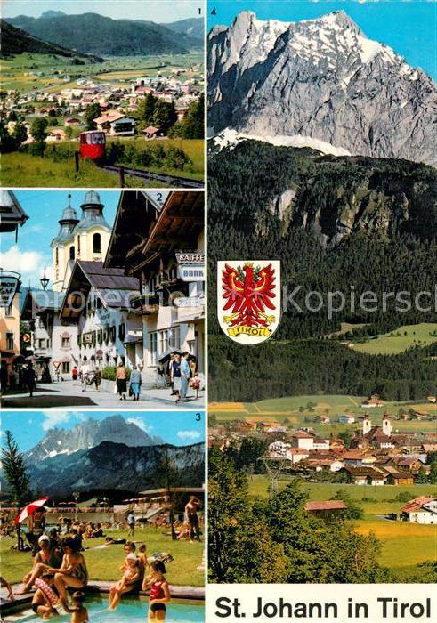 AK / Ansichtskarte St_Johann_Tirol Bergbahn Speckbacherstr Erholungszentrum Wilder Kaiser St_Johann_Tirol 0