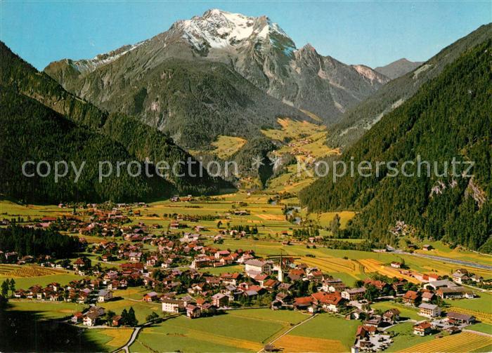 AK / Ansichtskarte Mayrhofen_Zillertal Fliegeraufnahme mit Gruenberg Mayrhofen_Zillertal 0
